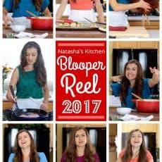 Blooper Reel 2017 - Natasha's Kitchen annual behind the scenes bloopers are always a hoot! | natashaskitchen.com