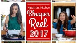 Blooper Reel 2017 - Natasha's Kitchen annual behind the scenes bloopers are always a hoot! | natashaskitchen.com