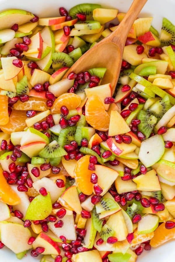 Winter fruit salad is refreshing and loaded with the best fruits of winter. The lemon-lime-honey syrup is lip-smacking good! You'll be running for refills!   natashaskitchen.com