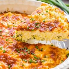 Savory cabbage pie loaded with cabbage and herbs. The batter makes it creamy and quiche-like. A golden cheesy crust takes this cabbage casserole over the top with a slight cheese pull when it's hot and fresh of the oven. | natashaskitchen.com