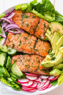 Avocado Salmon Salad Recipe Video Natashaskitchen Com