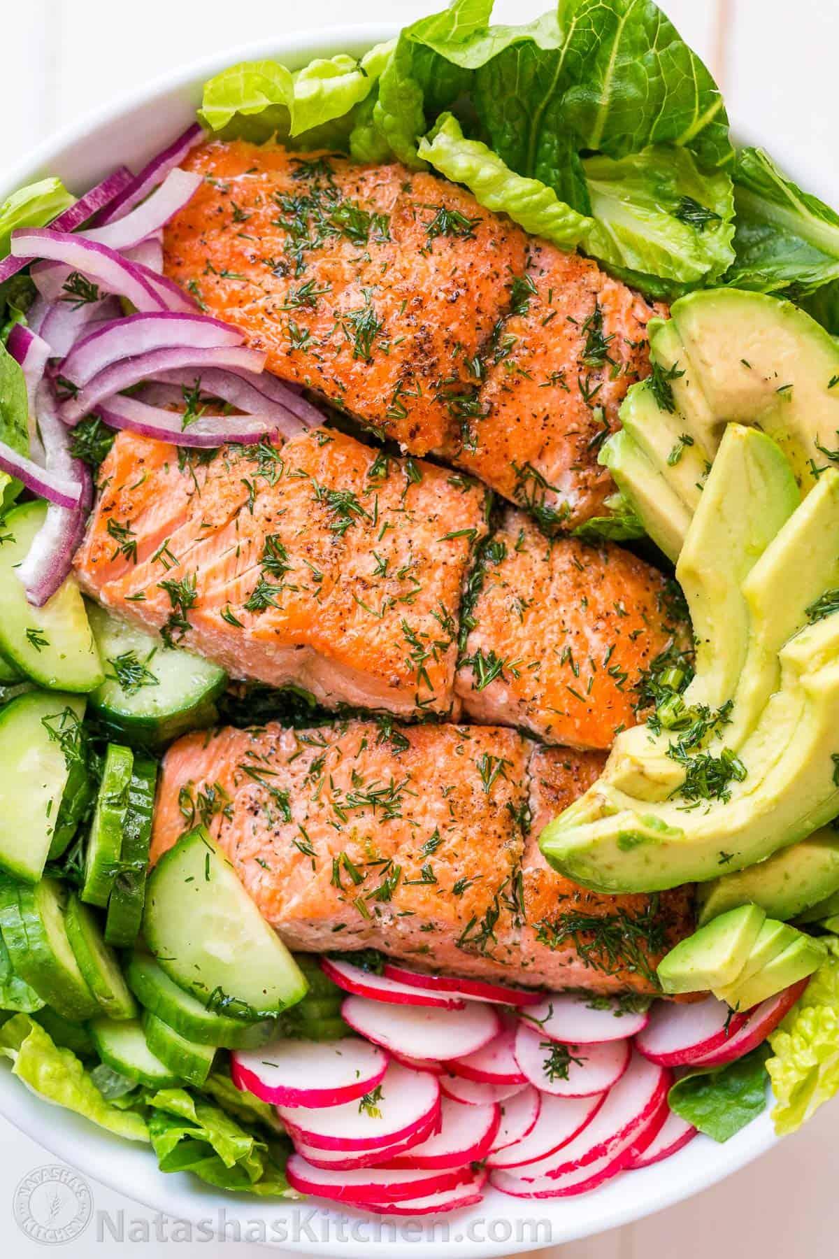 728302717608 Avocado Salmon Salad Recipe (VIDEO) - NatashasKitchen.com
