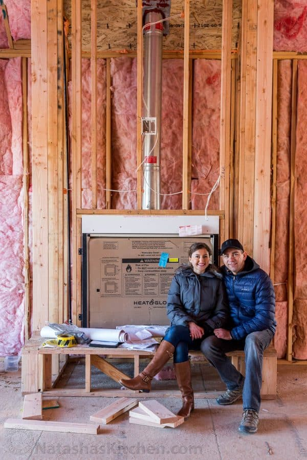 Natasha and Vadim inside of home under construction