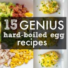 15 Genius ways to use Hard Boiled Eggs! If you have a fridge full of leftover Easter eggs or you just love boiled eggs, this list of hard boiled egg recipes will get you excited. Includes our fail-proof hard boiled eggs recipe. | natashaskitchen.com