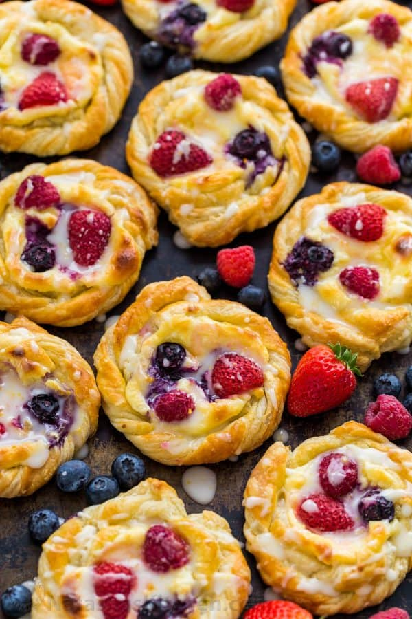 Cheese Danishes with berries