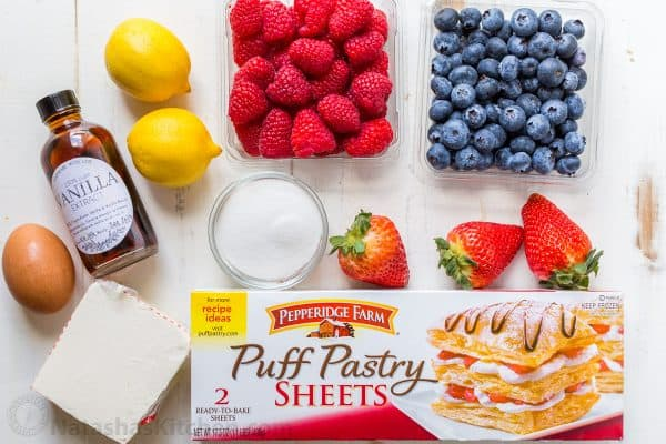 puff pastry recipe ingredients