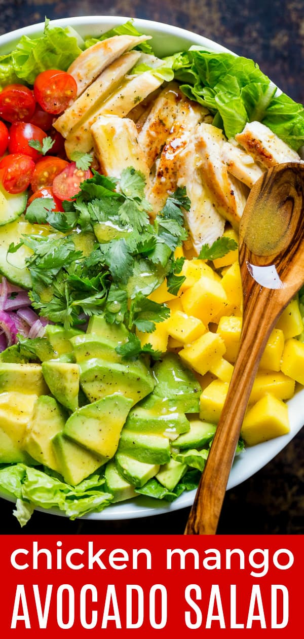 Chicken Mango Avocado Salad Natashaskitchen Com