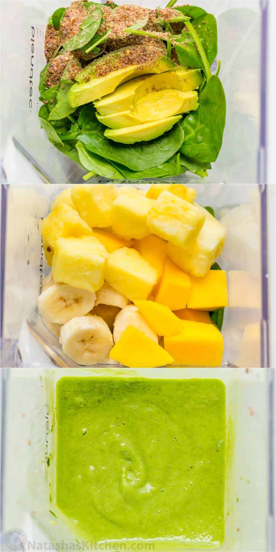How to make smoothie bowls with step by step photos in the blender before and after smoothie bowl is blended
