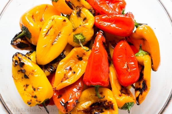 Grilled Roasted Bell Peppers