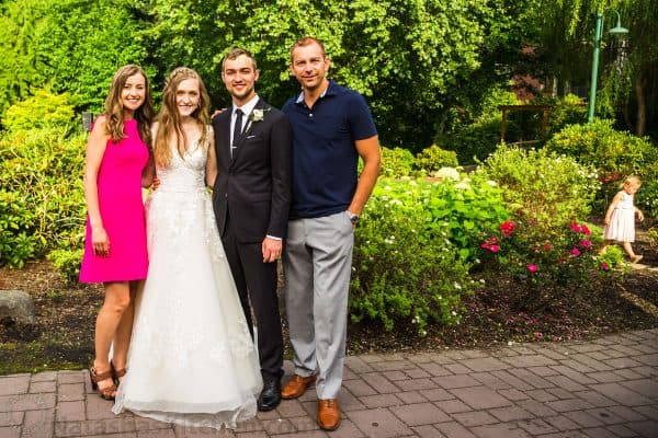 Natasha and Vadim with wedding couple
