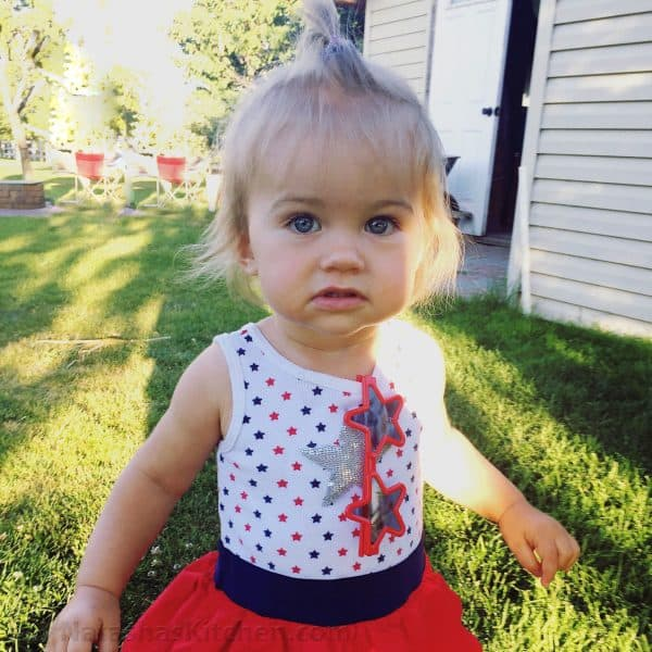 Little girl in patriotic outfit