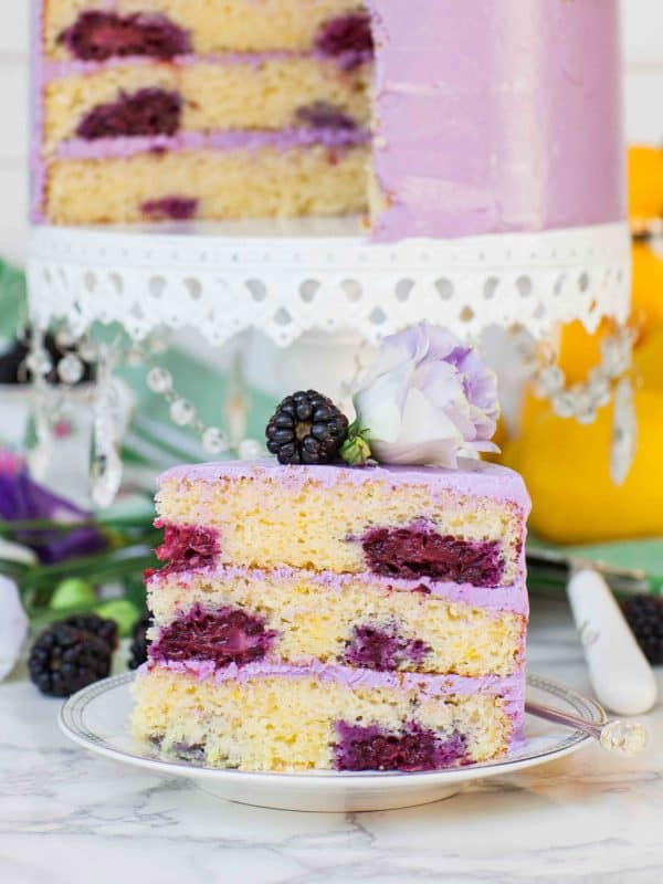 blackberry cake slice