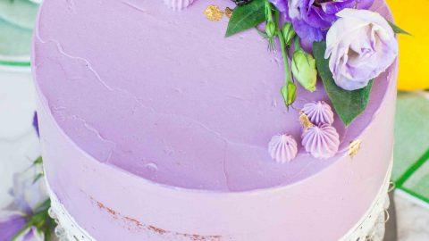 Lavender Lemon Blackberry Cake