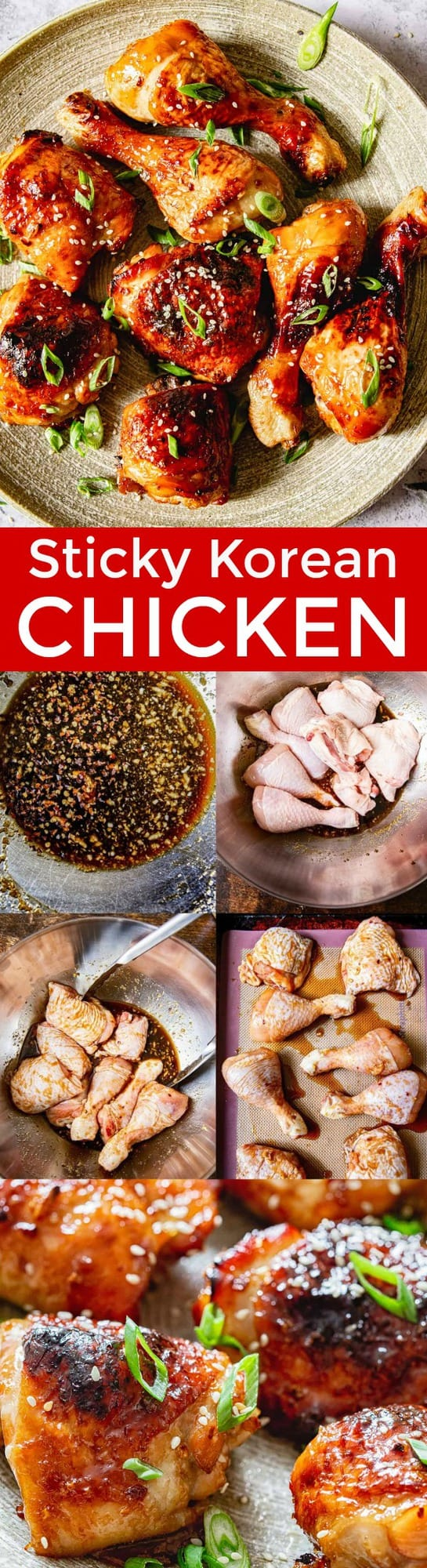 A quick and easy recipe for Korean chicken using simple and easy to source ingredients. This chicken is a wonderful mix of the sweet, sour and savoury. Master this restaurant quality Sticky Asian Chicken recipe at home! | natashaskitchen.com