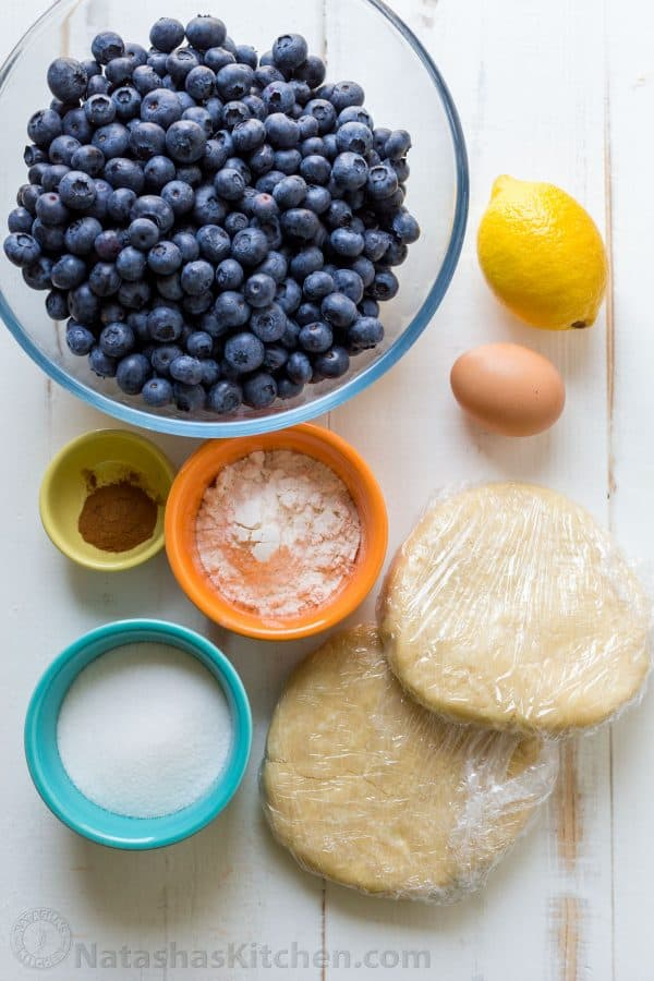 Ingredients for Homemade blueberry pie