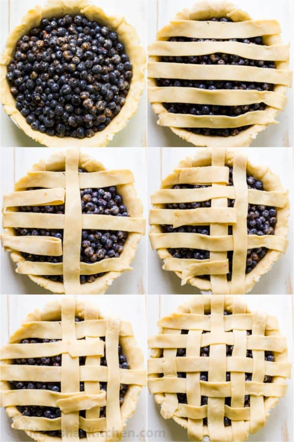 How to make a lattice pie crust photo tutorial