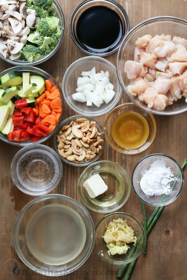 Ingredients for how to make stir fry