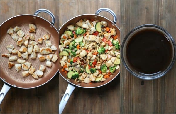 Step-by-step phptos how to make chicken stir fry.