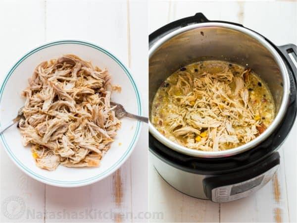 shredded chicken in instant pot