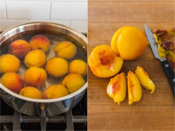 How to blanch peaches and how to peel peaches