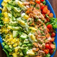 Salmon Cobb Salad with Leftover boiled eggs
