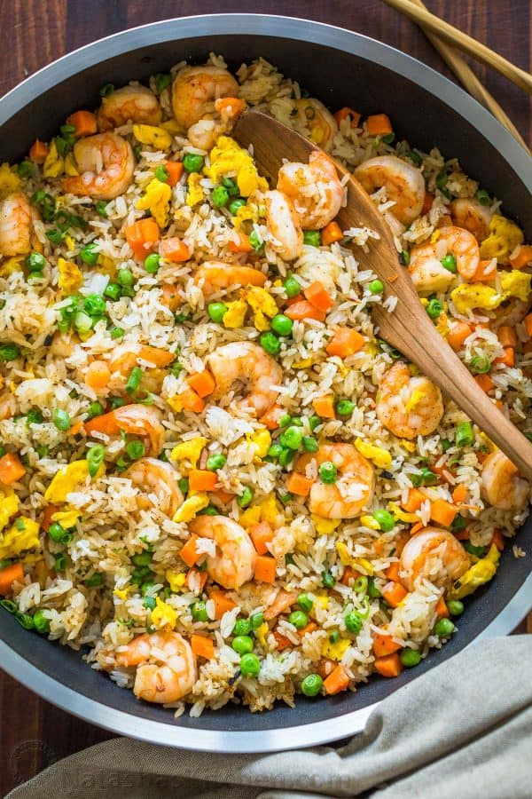 Shrimp Fried Rice Recipe Video Natashaskitchen Com