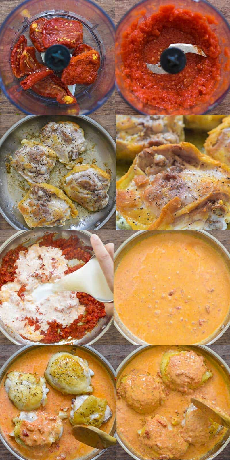 Step-by-step instructions on how to make Sun Dried Tomato Chicken
