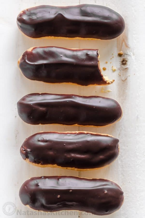 Homemade Chocolate Glazed Eclairs