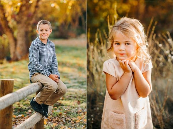 Two photos, side by side one of a boy and one of a girl