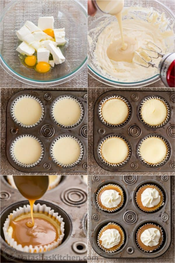 How to make mini cheesecakes with 3 ingredients