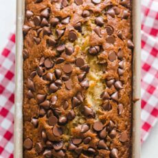 chocolate chip banana bread loaf