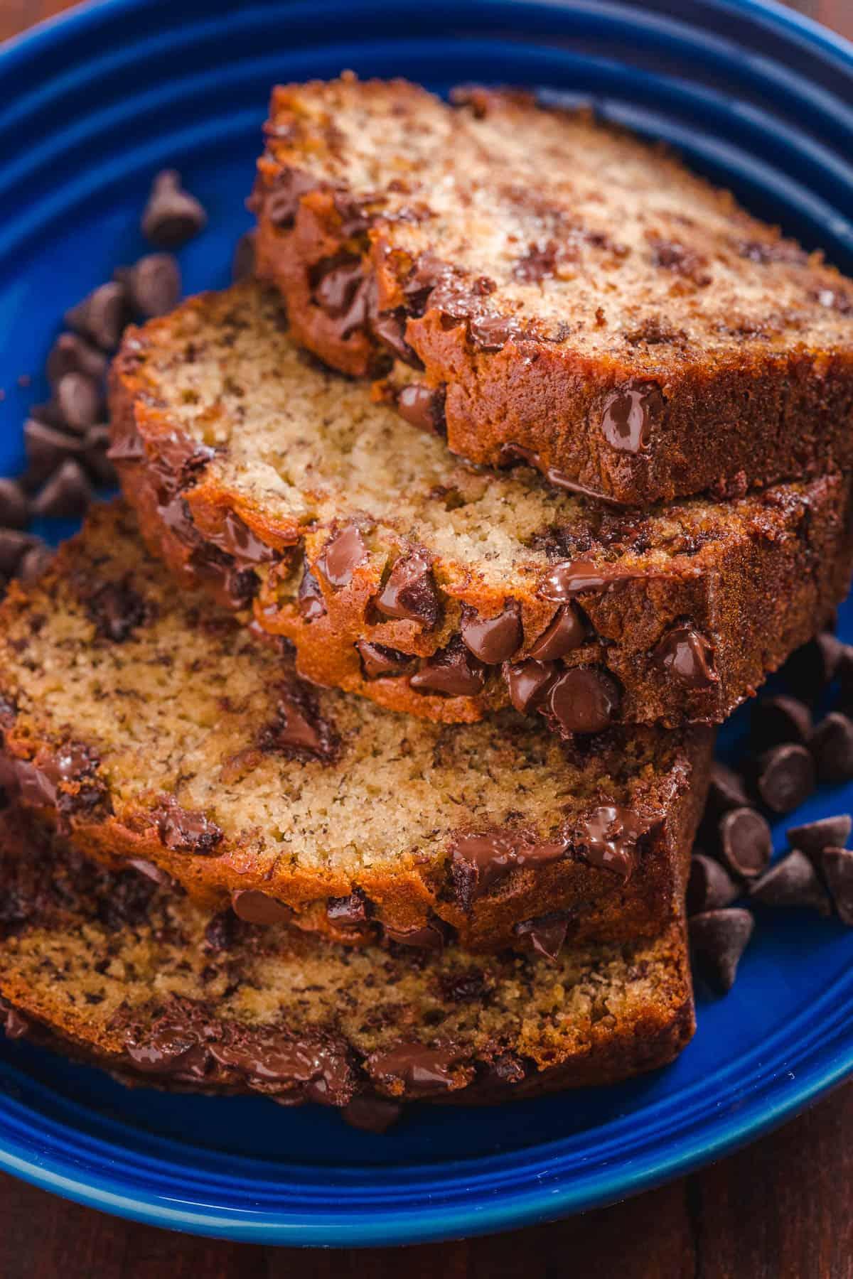 Chocolate Chip Banana Bread Natashaskitchen Com