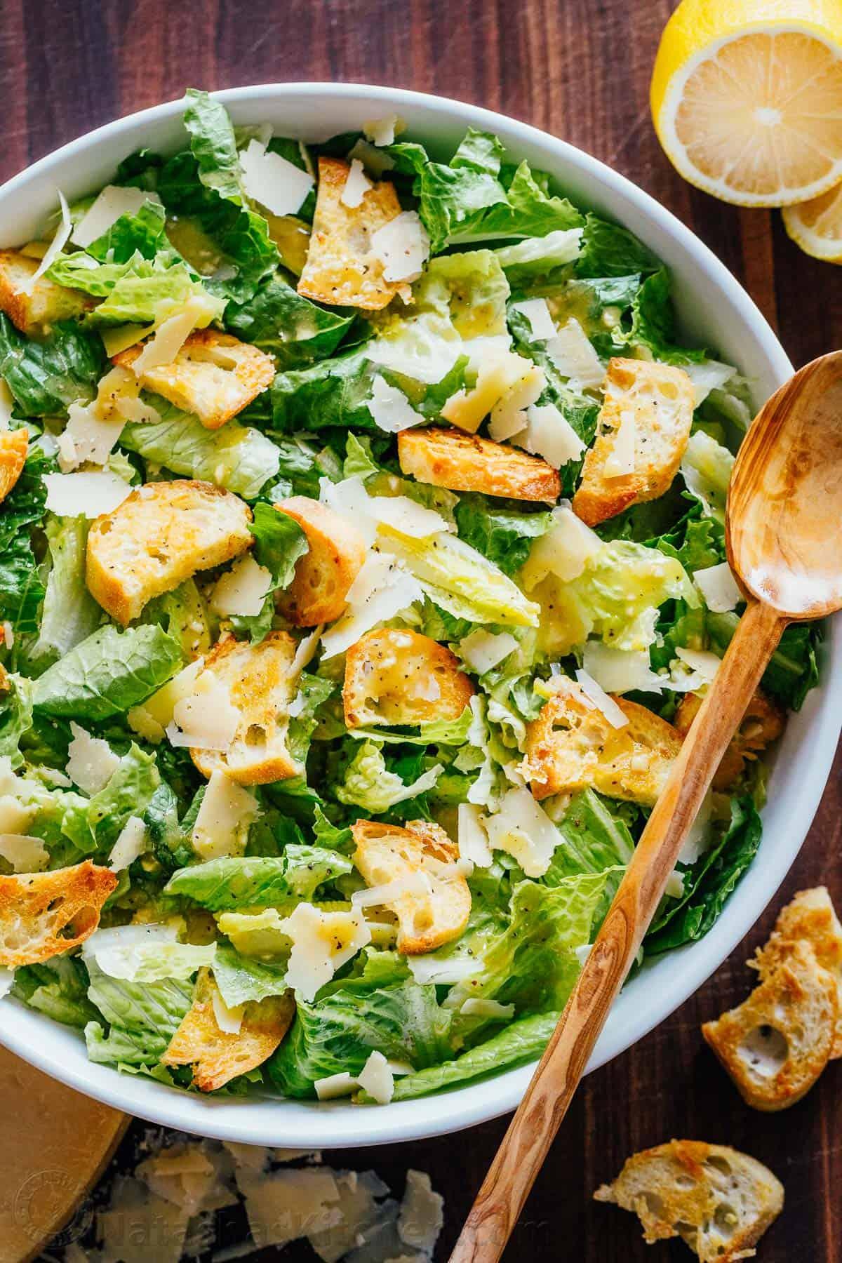 Caesar Salad Recipe Natashaskitchen Com