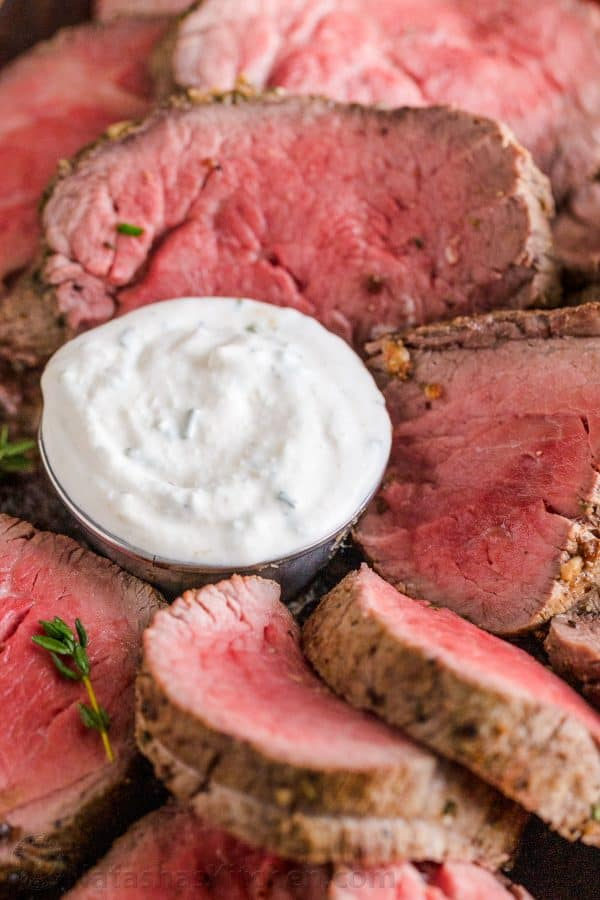 Ramekin of Horseradish sauce for prime rib or beef tenderloin