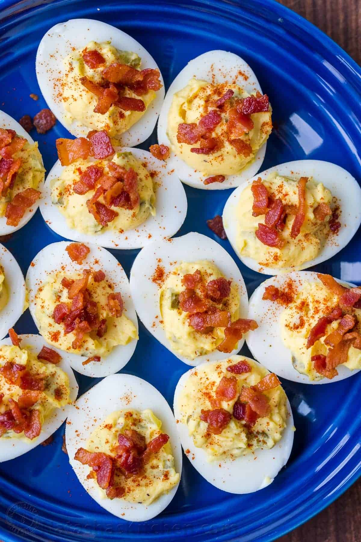 Best Ever Deviled Eggs With Bacon Natashaskitchen Com
