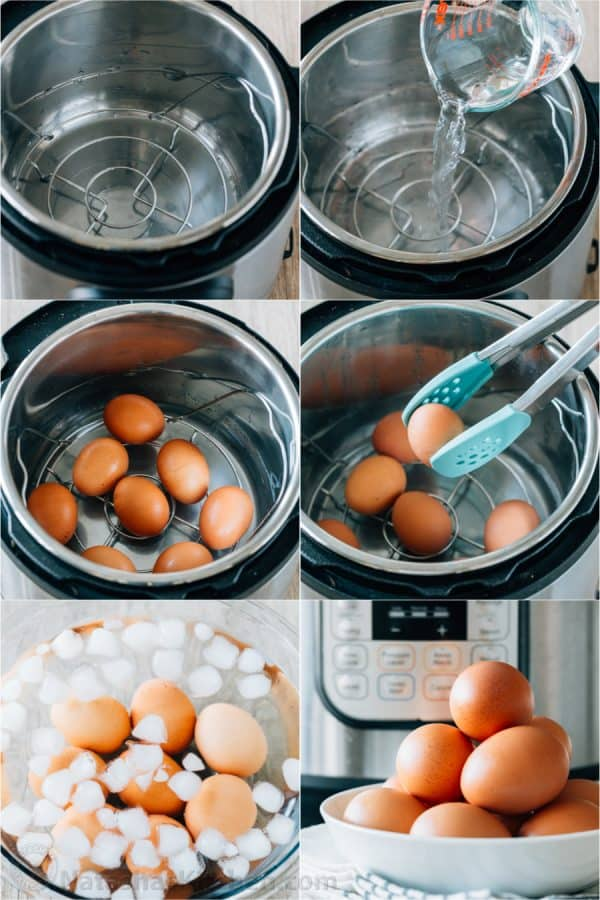How to hard boil eggs in instant pot with rack and water