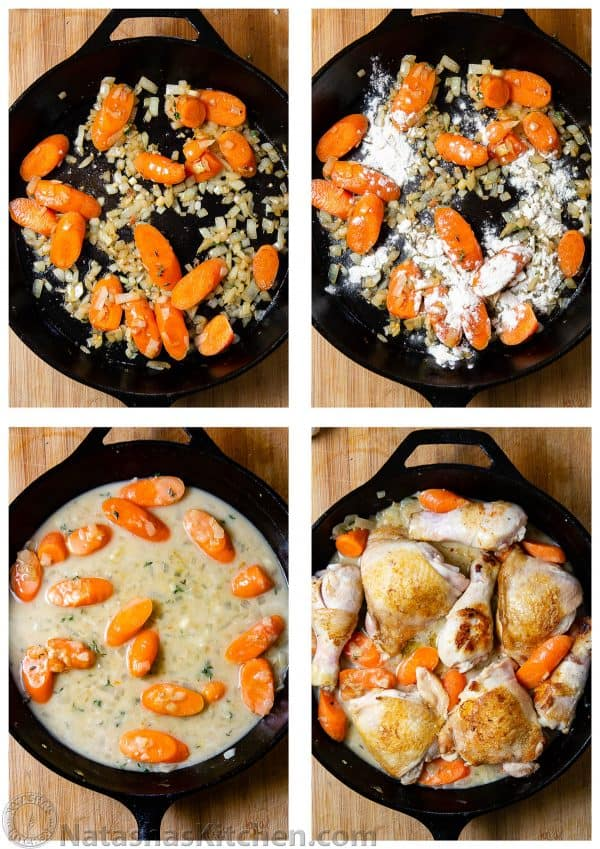 Chicken Fricassee process images