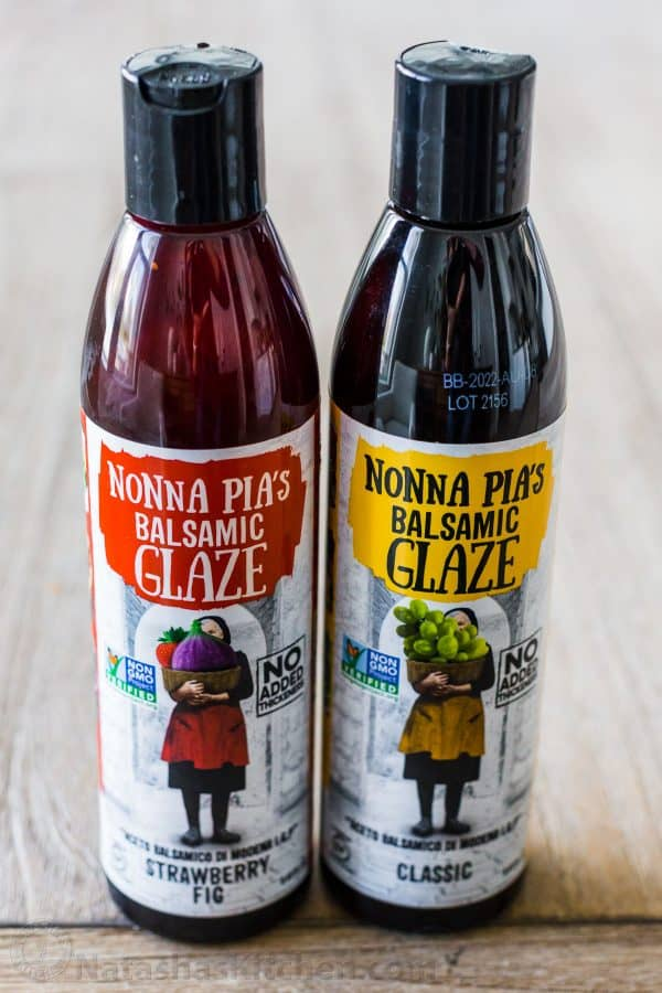 Balsamic glaze bottles