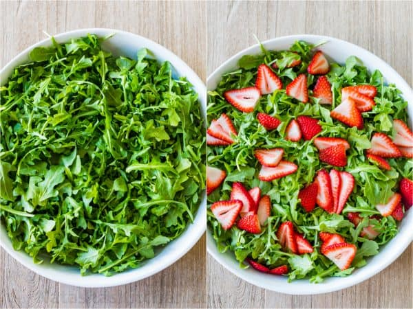 how to make arugula salad with arugula and strawberries