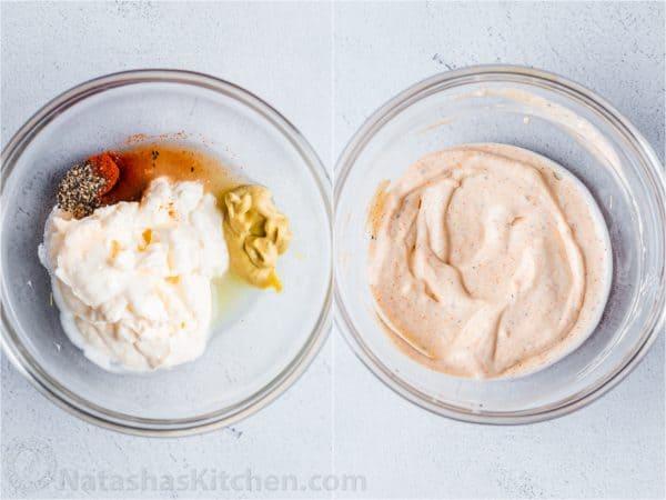 Collage cómo hacer aderezo cremoso de mayonesa Dijon
