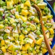 Shrimp mango avocado salsa