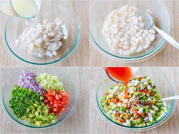 How to marinate shrimp for ceviche and how to assemble ceviche