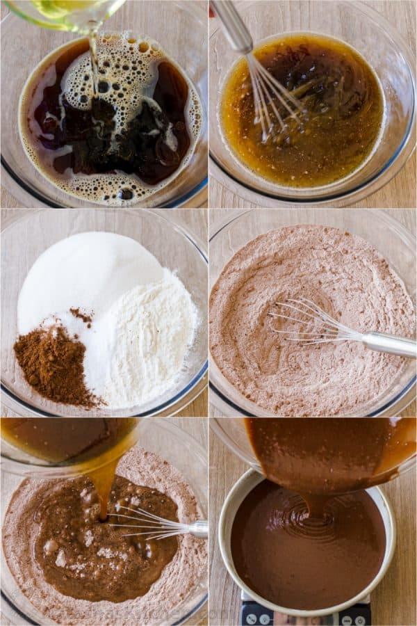 Step by step how to make chocolate cake