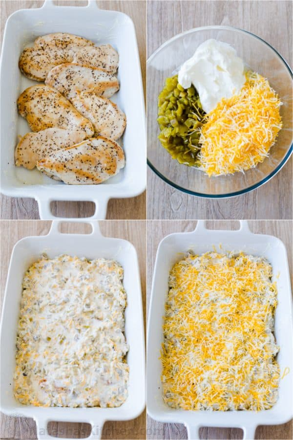 Step by step instructions for making Mexican chicken casserole