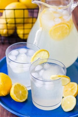 Lemonade Summer Drinks served on a platter