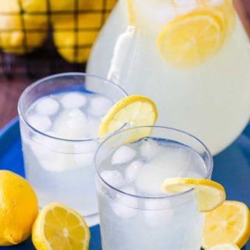 Lemonade Summer Drinks served on a platter