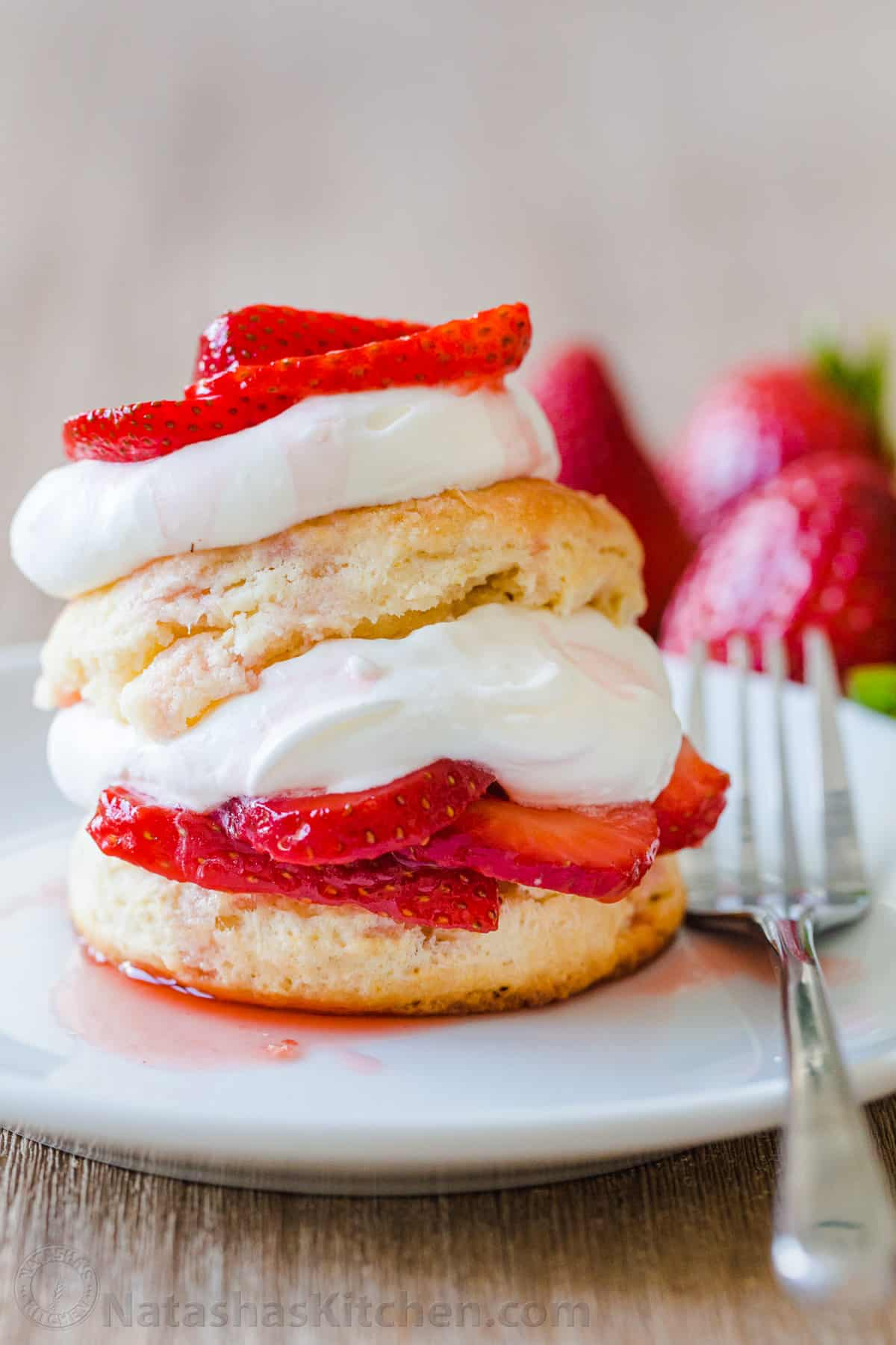 Strawberry Shortcake Recipe Video Natashaskitchen Com