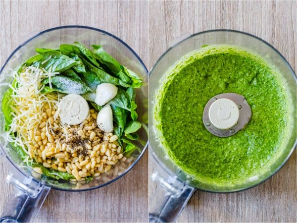 How to Make Basil Pesto in food processor