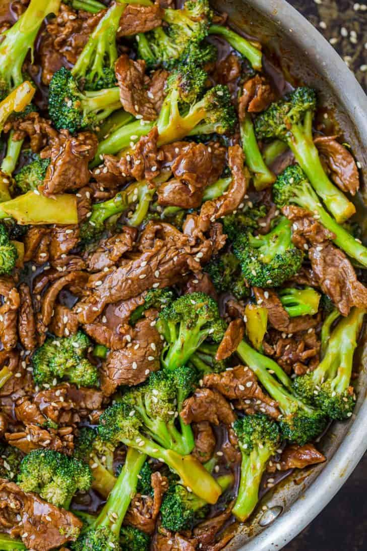 Tender beef with broccoli in homemade stir fry sauce.