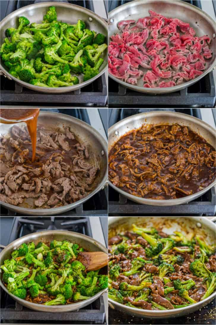 Step by step photos how to make broccoli beef